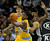 Denver forward Kenneth Faried secured a rebound in the first half. The Denver Nuggets defeated the San Antonio Spurs 112-106 at the Pepsi Center Tuesday night, December 18, 2012. Karl Gehring/The Denver Post