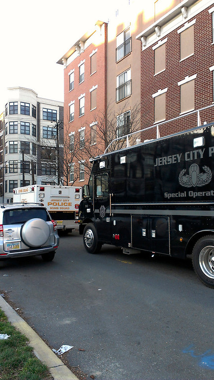 Description of . Jersey City bomb squad outside Hoboken, N.J. location tied to Connecticut shooter (Frank Scandale/Digital First Media)