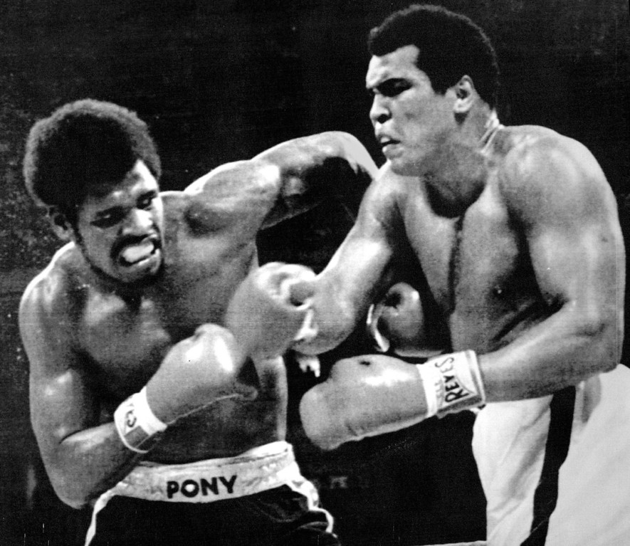 Description of . Muhammad All and Leon Spinks exchange punches during their WBA heavyweight title bout at the Superdome in New Orleans Friday night Ali became the first man to win the heavyweight crown times by defeating Spinks with a 15-round unanimous decision. 1978  Credit: AP Laserphoto