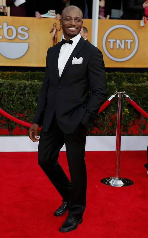 . Actor Taye Diggs arrives at the 19th annual Screen Actors Guild Awards in Los Angeles, California January 27, 2013.  REUTERS/Adrees Latif
