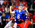 Florida Gators quarterback Jeff Driskel loses the ball as he is sacked in the third quarter by Louisville Cardinals safety Calvin Pryor (L) during the 2013 Allstate Sugar Bowl NCAA football game in New Orleans, Louisiana January 2, 2013.  REUTERS/Sean Gardner
