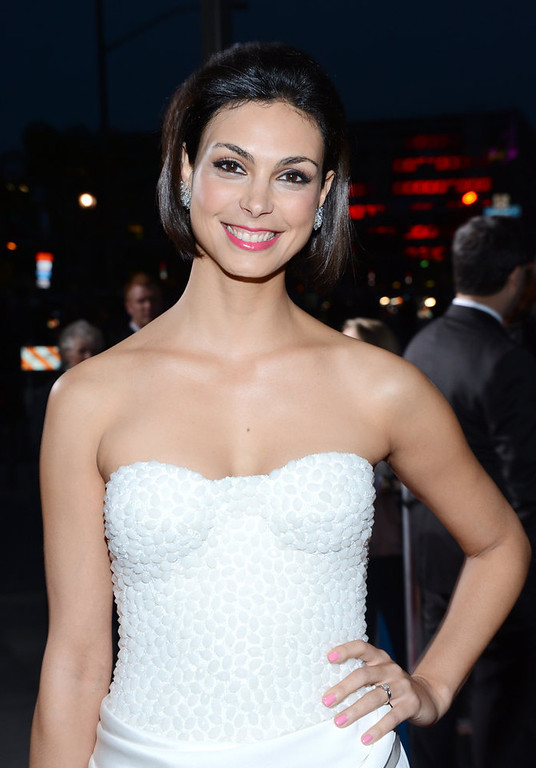Description of . Morena Baccarin attends the 34th Annual People\'s Choice Awards at Nokia Theatre L.A. Live on January 9, 2013 in Los Angeles, California.  (Photo by Jason Kempin/Getty Images for PCA)