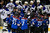 David Jones (C) #54 of the Colorado Avalanche is swarmed by his teammates after scoring the game winning goal in overtime against Jaroslav Halak #41 of the St. Louis Blues at the Pepsi Center on February 20, 2013 in Denver, Colorado. The Avalanche defeated the Blues 1-0 in overtime.  (Photo by Doug Pensinger/Getty Images)