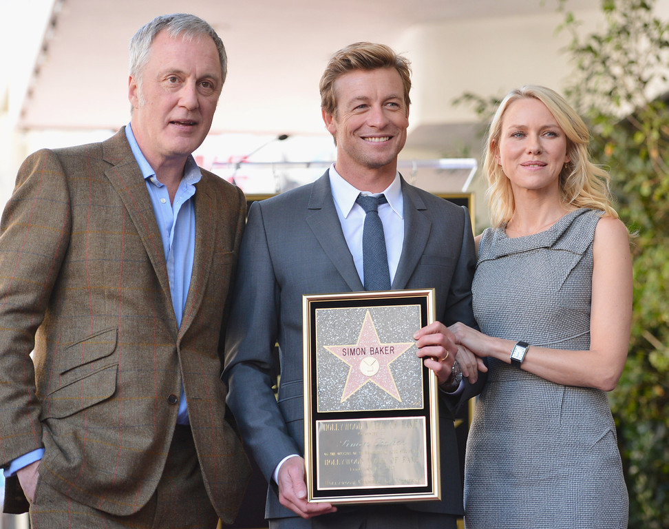 Description of . Executive producer Bruno Heller, actress Robin Tunney and actor Simon Baker attend a ceremony honoring Simon Baker with the 2,490th Star on The Hollywood Walk of Fame on February 14, 2013 in Hollywood, California.  (Photo by Alberto E. Rodriguez/Getty Images)