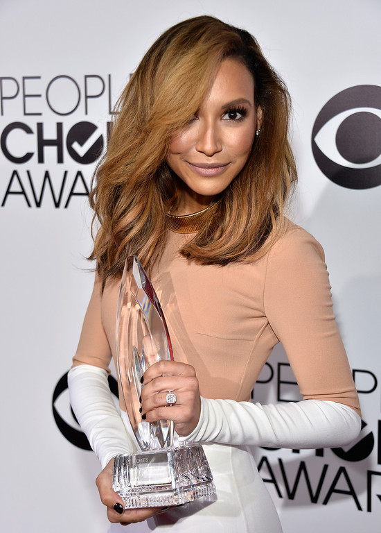 Description of . LOS ANGELES, CA - JANUARY 08:  Actress Naya Rivera attends The 40th Annual People's Choice Awards at Nokia Theatre L.A. Live on January 8, 2014 in Los Angeles, California.  (Photo by Frazer Harrison/Getty Images for The People's Choice Awards)