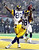 St. Louis Rams wide receiver Torry Holt (R) and wide receiver Isaac Bruce (L) celebrate Holt's touchdown catch during second half action in Super Bowl XXXIV at the Georgia Dome in Atlanta, GA 30 January, 2000. ROBERTO SCHMIDT/AFP/Getty Images
