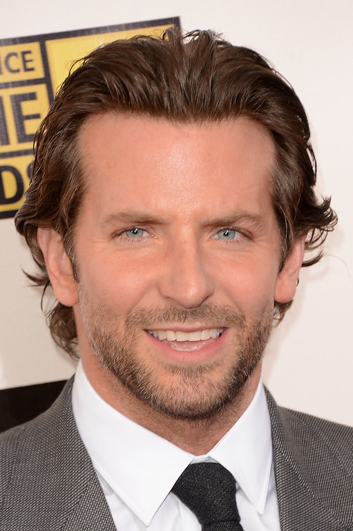 Description of . Actor Bradley Cooper arrives at the 18th Annual Critics' Choice Movie Awards held at Barker Hangar on January 10, 2013 in Santa Monica, California.  (Photo by Jason Merritt/Getty Images)