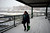 ARVADA, CO. - MARCH 09: Miranda Tanner of Thornton marches for the next bus after missing one at the park and ride at 88th and Wadsworth in Arvada as the snow continues to fall March 09, 2013. Arvada, Colorado. (Photo By Joe Amon/The Denver Post)