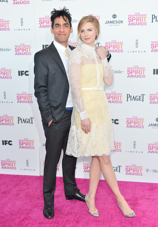 . SANTA MONICA, CA - FEBRUARY 23:  Director Zal Batmanglij and actress Brit Marling attend the 2013 Film Independent Spirit Awards at Santa Monica Beach on February 23, 2013 in Santa Monica, California.  (Photo by Alberto E. Rodriguez/Getty Images)