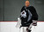 Colorado Avalanche G J.S. Giguere smiles during practice as the Avalanche return to the ice Sunday, January 13, 2013 at Family Sports Center to start the 2013 training camp.  John Leyba, The Denver Post