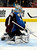 Colorado Avalanche goalie Semyon Varlamov (1), of Russia, blocks a shot during the second period of an NHL hockey game against the Chicago Blackhawks, Monday, March 18, 2013, in Denver. (AP Photo/Jack Dempsey)
