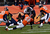 Denver Broncos outside linebacker Von Miller (58) takes down Baltimore Ravens tight end Ed Dickson (84) in the second quarter. The Denver Broncos vs Baltimore Ravens AFC Divisional playoff game at Sports Authority Field Saturday January 12, 2013. (Photo by Joe Amon,/The Denver Post)