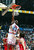 ATLANTA, GA - FEBRUARY 9: Michael Jordan of the Eastern Conference All-Stars dunks against the Western Conference All-Stars during the 2003 NBA All-Star Game on February 9, 2003 at Philips Arena in Atlanta, Georgia.   (Photo by Jamie Squire/Getty Images)