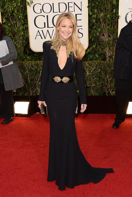 Description of . Actress Kate Hudson arrives at the 70th Annual Golden Globe Awards held at The Beverly Hilton Hotel on January 13, 2013 in Beverly Hills, California.  (Photo by Jason Merritt/Getty Images)