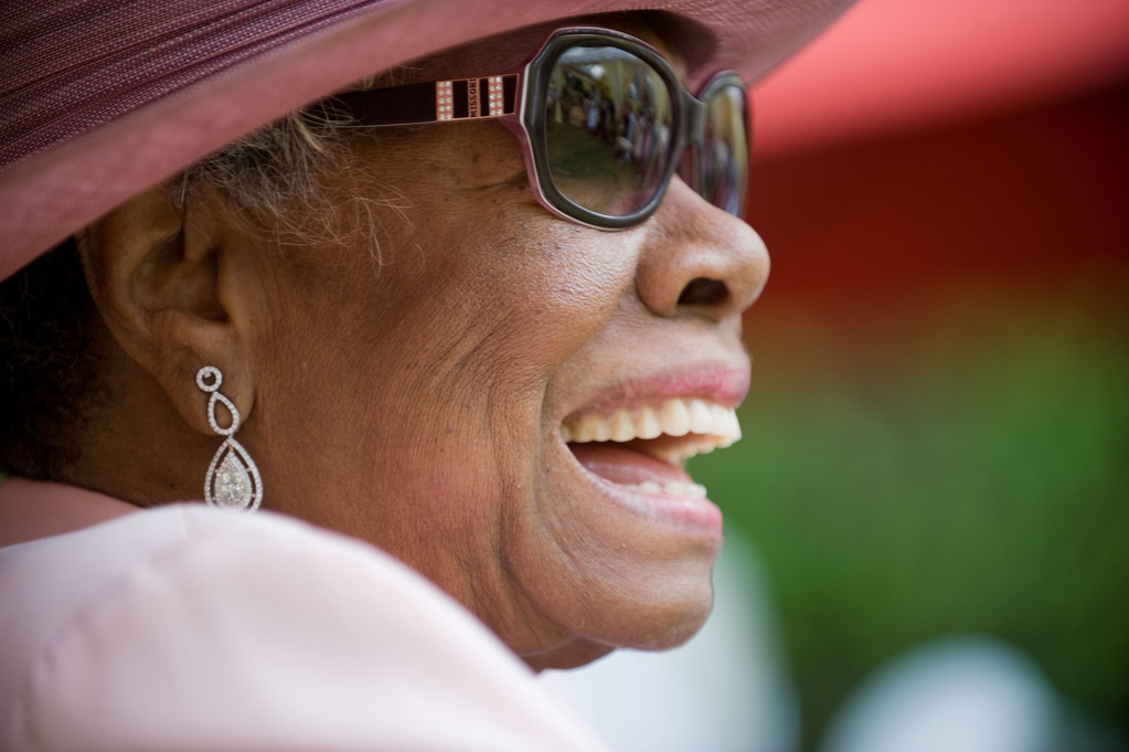 . Dr. Maya Angelou attends her 82nd birthday at a party with friends and family at her home on May 20, 2010 in Winston-Salem, North Carolina. (Photo by Steve Exum/Getty Images)