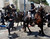 Mounted Israeli police officers try to disperse ultra-Orthodox Jews during a protest in Jaffa, just south of central Tel Aviv June 16, 2010. REUTERS/Nir Elias