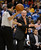 DENVER, CO. - JANUARY 20: Denver Nuggets head coach George Karl screams at referee Zach Zarba (28) after calling a foul during the first quarter January 20,  2013 at Pepsi Center. The Denver Nuggets defeated the Oklahoma City Thunder 121-118. (Photo By John Leyba / The Denver Post)