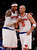 New York Knicks' Carmelo Anthony, left, confers with teammate Jason Kidd in the fourth quarter against the Denver Nuggets during an NBA basketball game, Sunday, Dec. 9, 2012, in New York.  New York beat Denver, 112-106. (AP Photo/Jason DeCrow)