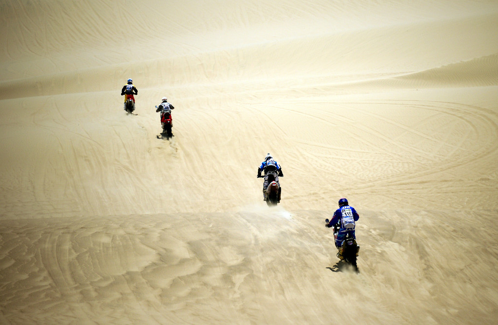 Description of . Riders compete during the Stage 1 of the Dakar 2013 between Lima and Pisco, Peru, on January 5, 2013. The rally will take place in Peru, Argentina and Chile from January 5 to 20.  FRANCK FIFE/AFP/Getty Images