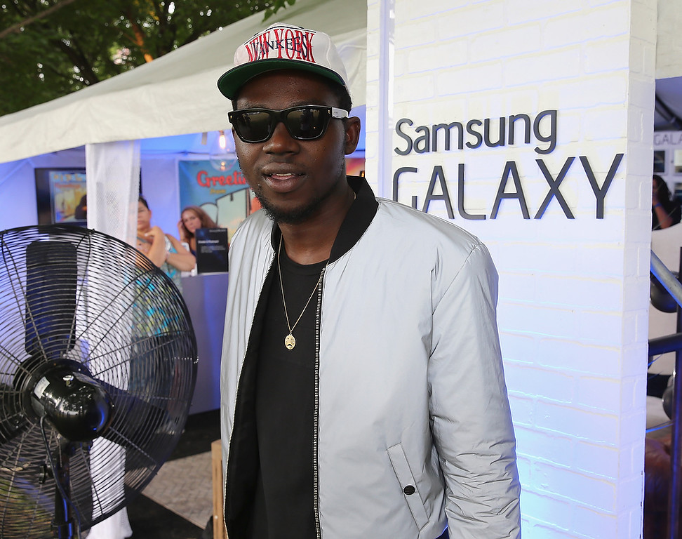 Description of . CHICAGO, IL - AUGUST 02:  Theophilus London at the Samsung Galaxy Artist Lounge at Lollapalooza  on August 2, 2013 in Chicago City.  (Photo by Neilson Barnard/Getty Images for Samsung Galaxy)