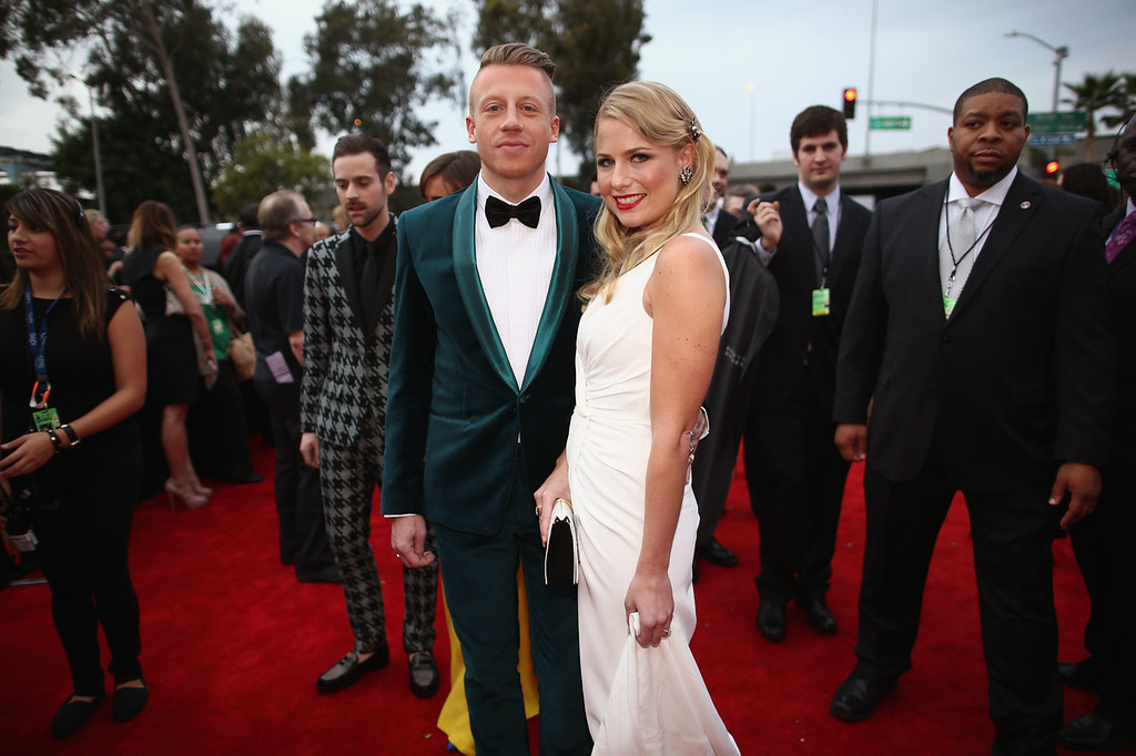 Description of . Recording artist Macklemore (L) and Tricia Davis attend the 56th GRAMMY Awards at Staples Center on January 26, 2014 in Los Angeles, California.  (Photo by Christopher Polk/Getty Images for NARAS)
