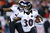Bernard Pierce #30 of the Baltimore Ravens runs the ball against the New England Patriots during the 2013 AFC Championship game at Gillette Stadium on January 20, 2013 in Foxboro, Massachusetts.  (Photo by Al Bello/Getty Images)