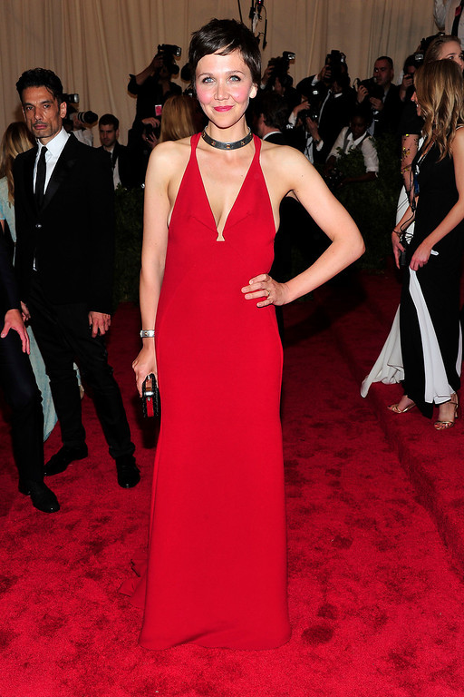 Description of . Maggie Gyllenhaal attends The Metropolitan Museum of Art's Costume Institute benefit celebrating