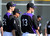 SCOTTSDALE, AZ. - FEBRUARY 19: Colorado Rockies Jeff Francis (26) and Drew Pomeranz (13) look on during team fundamental February 19, 2013 in Scottsdale. (Photo By John Leyba/The Denver Post)
