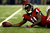 Wide receiver Julio Jones #11 of the Atlanta Falcons looks on after making a catch in the second quarter against the San Francisco 49ers in the NFC Championship game at the Georgia Dome on January 20, 2013 in Atlanta, Georgia.  (Photo by Streeter Lecka/Getty Images)