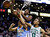Boston Celtics guard Avery Bradley (0) competes for a loose rebound with Denver Nuggets point guard Andre Miller (24) and forward Kenneth Faried, center, during the fourth quarter of an NBA basketball game in Boston, Sunday, Feb. 10, 2013. The Celtics won 118-114 in triple-overtime. (AP Photo/Elise Amendola)