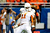Tevin Jackson #11 of the University of Texas Longhorns celebrates a sack against the Oregon State Beavers during the Valero Alamo Bowl at the Alamodome on December 29, 2012 in San Antonio, Texas.  Texas won the game 31-27.  (Photo by Stacy Revere/Getty Images)