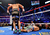 Manny Pacquiao lays face down on the mat after being knocked out in the sixth round by Juan Manuel Marquez during their welterweight bout at the MGM Grand Garden Arena on December 8, 2012 in Las Vegas, Nevada.  (Photo by Al Bello/Getty Images)