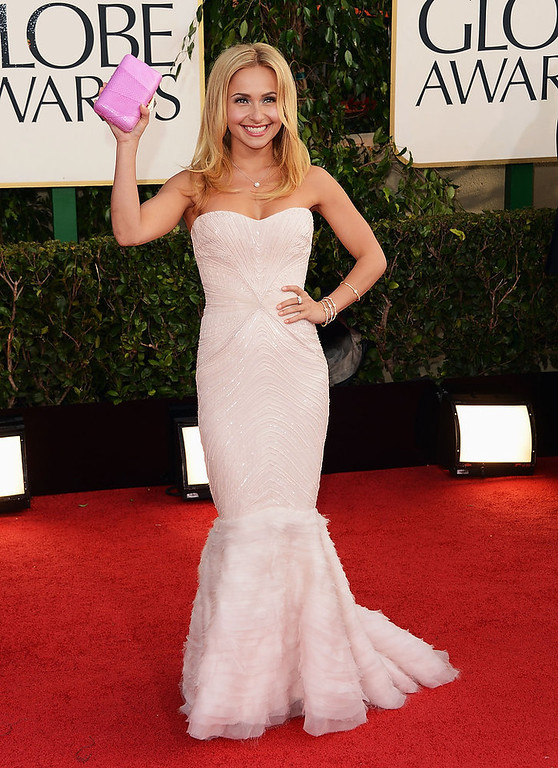 Description of . Actress Hayden Panettiere arrives at the 70th Annual Golden Globe Awards held at The Beverly Hilton Hotel on January 13, 2013 in Beverly Hills, California.  (Photo by Jason Merritt/Getty Images)