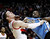 Portland Trail Blazers forward Luke Babbitt, left, and Denver Nuggets forward Kenneth Faried battle for rebound position under the basket during the first quarter of an NBA basketball game in Portland, Ore., Thursday, Dec. 20, 2012. (AP Photo/Don Ryan)