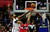 Matt Barnes of the Los Angeles Clippers (L) tries to block Nene of the Washington Wizards (#42) from scoring during their NBA game in Los Angeles on January 19, 2013.  FREDERIC J. BROWN/AFP/Getty Images