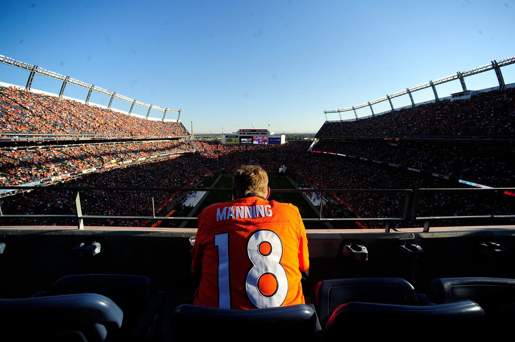 Description of . Denver Bronco fans watch the first game of the season against the Pittsburgh Steelers at Sports Authority Field at Mile High in Denver, CO Sunday September 9, 2012.  AAron Ontiveroz/The Denver Post