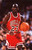 MICHAEL JORDAN OF THE CHICAGO BULLS DRIBBLES DOWNCOURT DURING AN NBA GAME. Stephen Dunn Getty Images