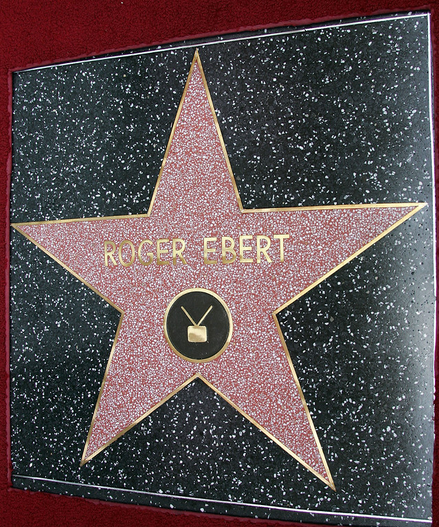 Description of . The 2,288th Star on the Hollywood Walk of Fame for Movie Critic Roger Ebert is shown June 23, 2005 in Hollywood, California.  (Photo by Frazer Harrison/Getty Images)