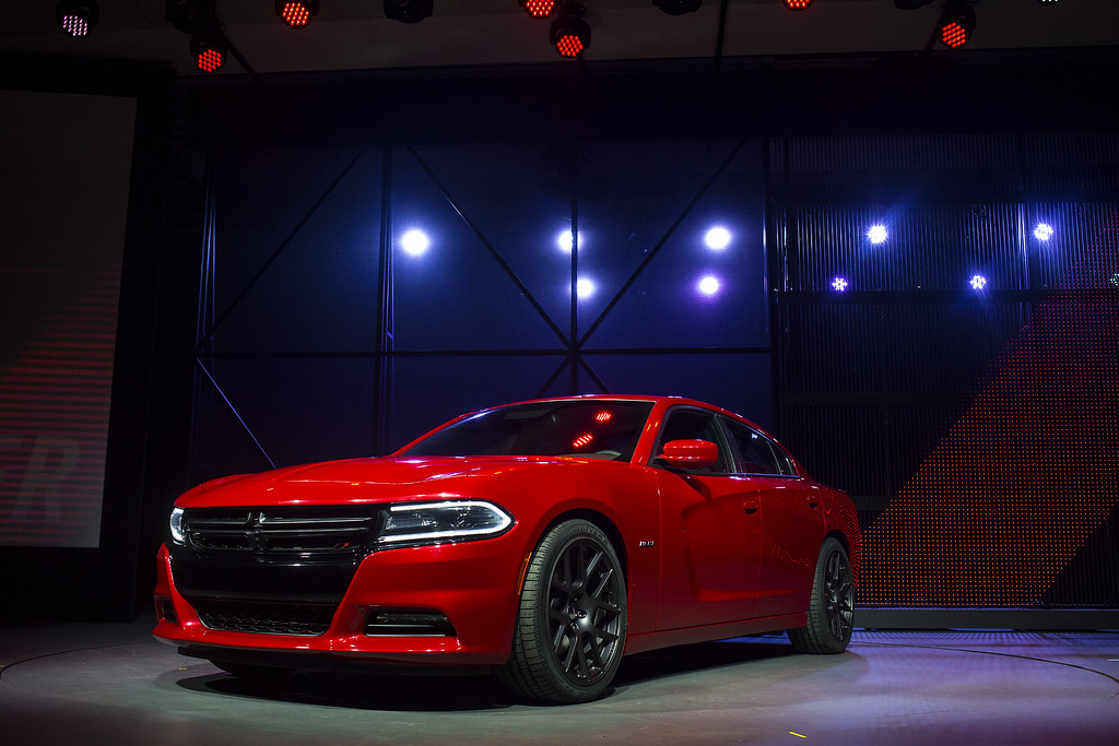 Description of . The 2015 Dodge Charger is unveiled during a media preview of the 2014 New York International Auto Show in New York. The show opens with a sneak preview to the public April 18th and runs through April 27th. (Photo by Eric Thayer/Getty Images)