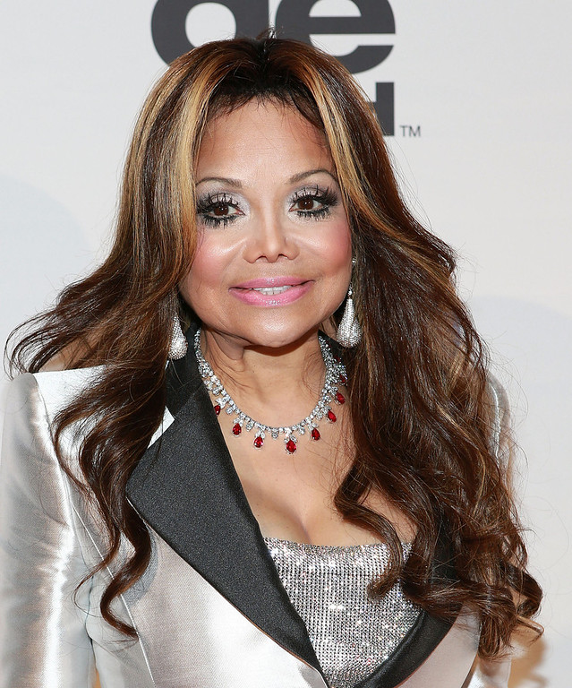 "Description of . La Toya Jackson attends ""All Star Celebrity Apprentice\"" Finale at Cipriani 42nd Street on May 19, 2013 in New York City.  (Photo by Robin Marchant/Getty Images)"