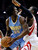 Denver Nuggets' Kenneth Faried (35) tries to get past Houston Rockets' Patrick Patterson (54) in the first half of an NBA basketball game Wednesday, Jan. 23, 2013, in Houston. (AP Photo/Pat Sullivan)