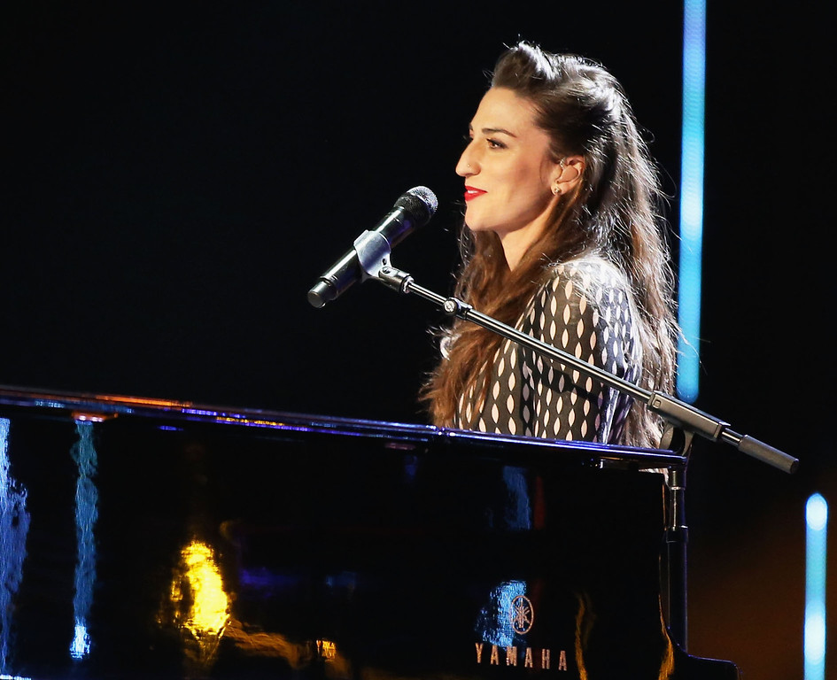 Description of . LOS ANGELES, CA - JANUARY 08:  Recording artist Sara Bareilles performs onstage during The 40th Annual People's Choice Awards at Nokia Theatre L.A. Live on January 8, 2014 in Los Angeles, California.  (Photo by Christopher Polk/Getty Images for The People's Choice Awards)