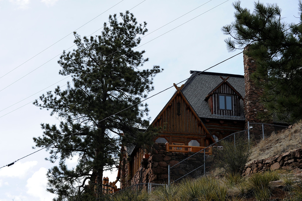 Description of . PINE, CO - APRIL 18: The exterior of Baehrden Lodge on April 18, 2014, in Pine, Colorado. (Photo by Anya Semenoff/The Denver Post)