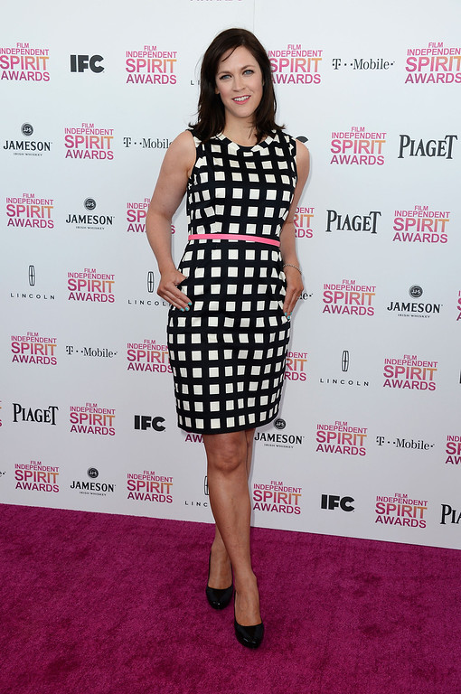 Description of . SANTA MONICA, CA - FEBRUARY 23:  Director Maggie Carey attends the 2013 Film Independent Spirit Awards at Santa Monica Beach on February 23, 2013 in Santa Monica, California.  (Photo by Frazer Harrison/Getty Images)