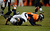 Denver Broncos strong safety Mike Adams (20) breaks up a pass intended for Baltimore Ravens tight end Dennis Pitta (88) during the fourth quarter.  The Denver Broncos vs Baltimore Ravens AFC Divisional playoff game at Sports Authority Field Saturday January 12, 2013. (Photo by John Leyba,/The Denver Post)