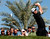 England's Justin Rose plays a shot during the second round of the Abu Dhabi Golf Championship at the Abu Dhabi Golf Club in the Emirati capital on January 18, 2013. AFP PHOTO/KARIM SAHIBKARIM SAHIB/AFP/Getty Images
