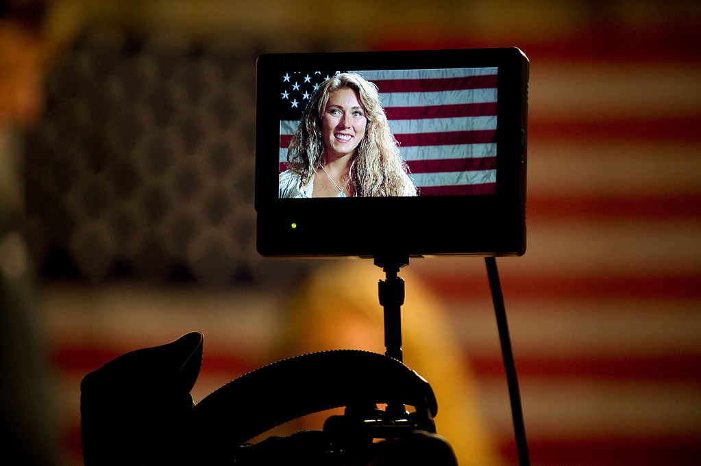 Description of . Mikaela Shiffrin waits for an interview with former Olympic Skier Picabo Street in Avon, Co. on July 15, 2013. (Photo By Grant Hindsley/The Denver Post)