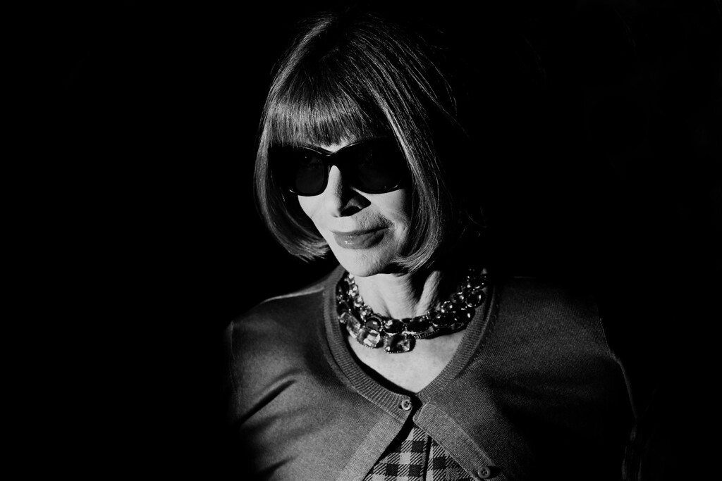 Description of . Anna Wintour attends the Gucci show as part of Milan Fashion Week Womenswear Spring/Summer 2014 on September 18, 2013 in Milan, Italy.  (Photo by Vittorio Zunino Celotto/Getty Images)
