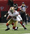 San Francisco 49ers' Chris Culliver intercepts a pass in front of Atlanta Falcons' Harry Douglas (83) during the second half of the NFL football NFC Championship game Sunday, Jan. 20, 2013, in Atlanta. (AP Photo/John Bazemore)
