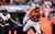 Denver Broncos wide receiver Eric Decker (87) pulls in a pass from Denver Broncos quarterback Peyton Manning (18) during the first quarter.  The Denver Broncos vs Baltimore Ravens AFC Divisional playoff game at Sports Authority Field Saturday January 12, 2013. (Photo by John Leyba,/The Denver Post)